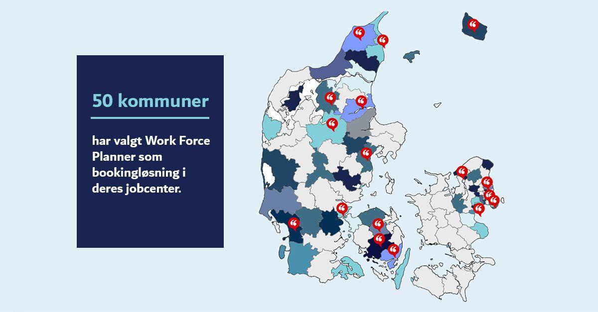 Over 50 kommuner har valgt WFP i jobcenteret